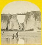 Newgate Bridge from the beach 1868  | Margate History