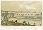 New landing place and Pier lithograph Newman and Co | Margate History