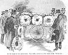 At the head of the procession: The coffin containing the body of Mr Troughton 1897 | Margate History