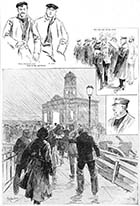 Margate on the morning of the disaster (bottom picture: The rush for news) 1897 | Margate History