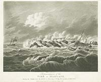 Storm 1808 Representation of the Pier | Margate History