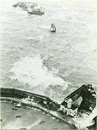 Aerial view Jetty and storm 1978 | Margate History