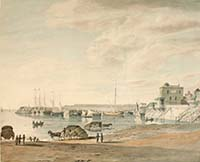 Margate from Bathing Place Shepherd  1813 Margate History