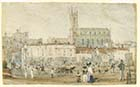 New Church from Austins Row [Shepherd 1828] | Margate History